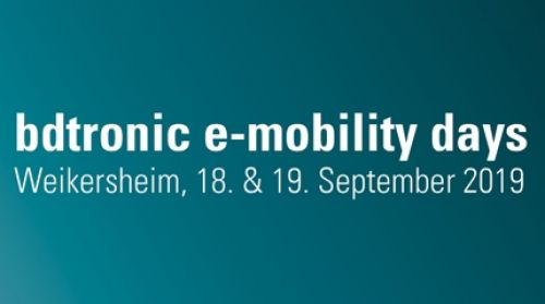 E-Mobility Days From 18/09/2019 to 19/09/2019bdtronic GmbHWeikersheimLindenstraße 397990 WeikersheimGermany